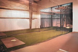 Hitting, batting, pitching and fielding instruction area of Guerilla Baseball Academy in Mandeville, LA.